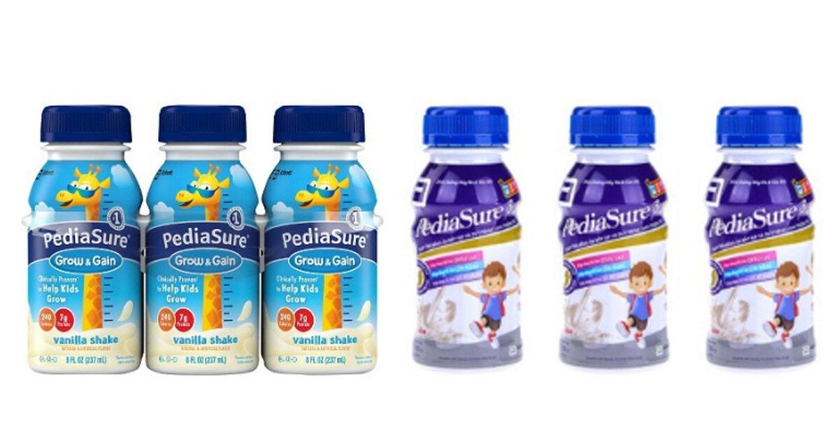 Sữa Pediasure nước có mấy loại ? Phân biệt sữa Pediasure nước giả như thế nào ?