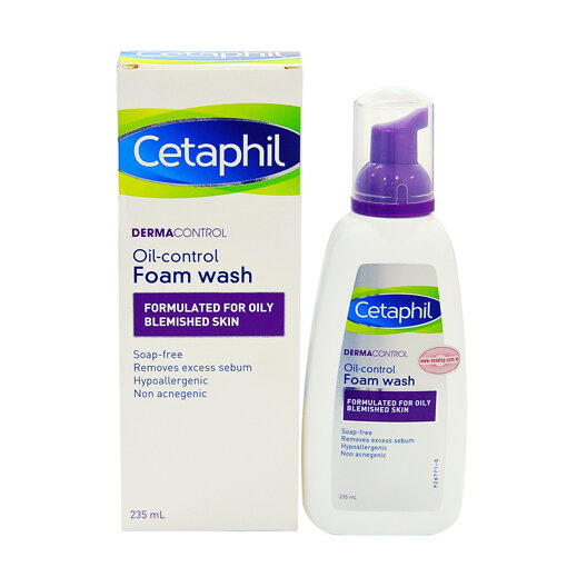 Sữa rửa mặt cho da dầu, mụn Cetaphil màu tím – Cetaphil Dermacontrol Oil Control Foam Wash có tốt không?