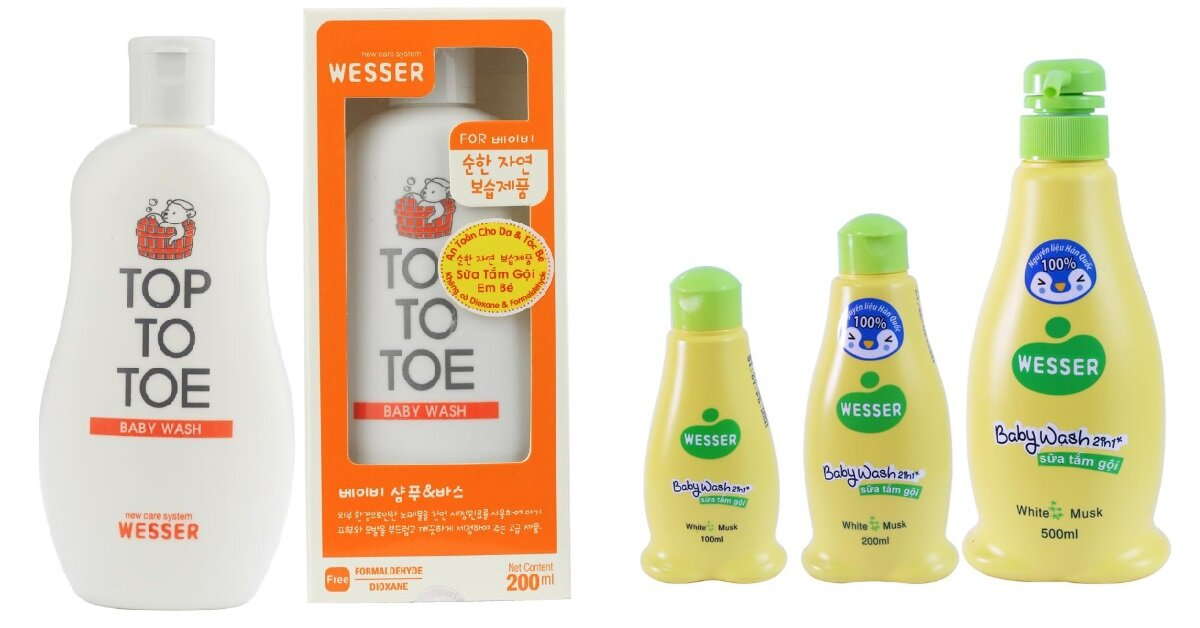 Sữa tắm gội cho trẻ sơ sinh Wesser có tốt không ? Có mấy loại ? Giá bao nhiêu ?