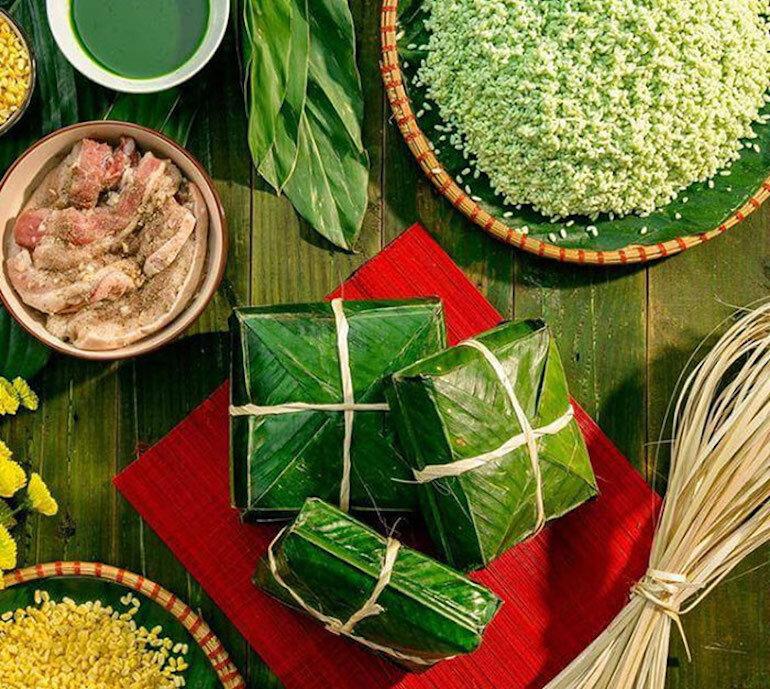 Món Tết đổi vận bánh chưng - Bánh tét - Việt Nam
