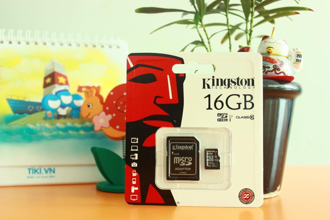 Thẻ nhớ 16GB Kingston Class 10