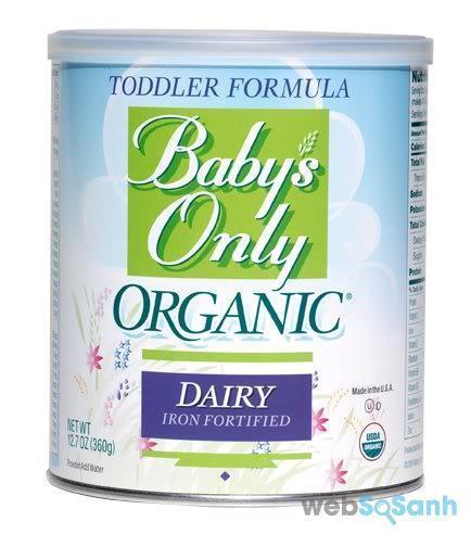 Sữa công thức Baby's Only Organic được sử dụng khá phổ biến tại Mỹ