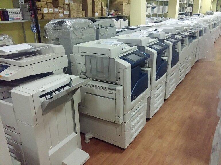Máy photocopy văn phòng được tân trang lại.