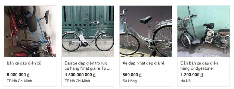 xe đạp điện giá rẻ dưới 1 triệu đồng.