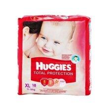 Tã dán Huggies Total protection XL18 – Bảo vệ làn da của bé