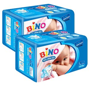 Tã giấy Bino S38 - Bộ 2 tã giấy ban đêm cho bé giấc ngủ ngon