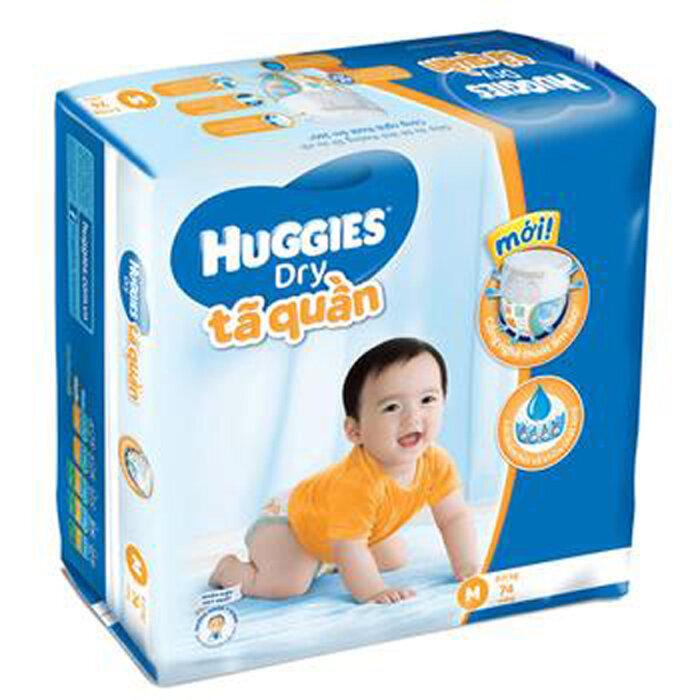 Tã quần Huggied Dry Pants Super Jumbo M74 giúp bé khô thoáng suốt ngày và đêm