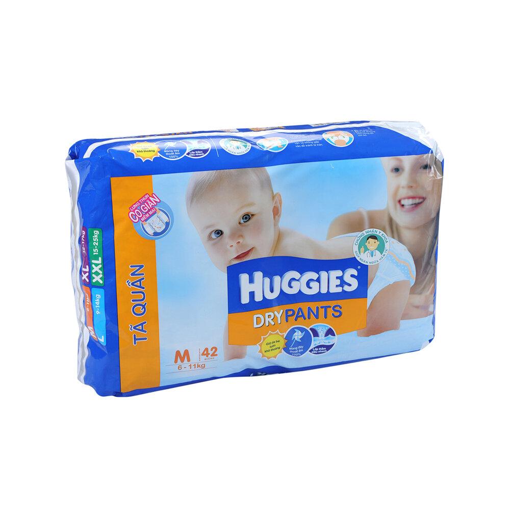 Tã quần Huggies – Dry Pants M42 – Sạch sẽ và thoải mái cho bé