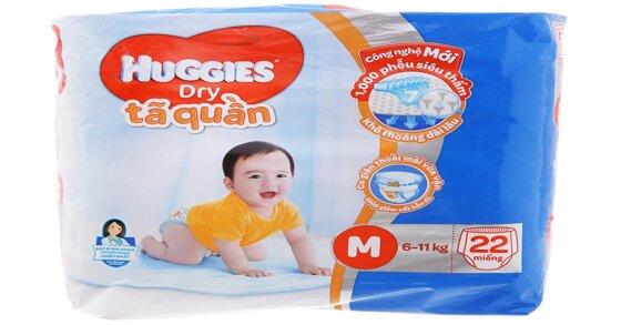 Tã quần Huggies size M có những ưu nhược điểm nào ?