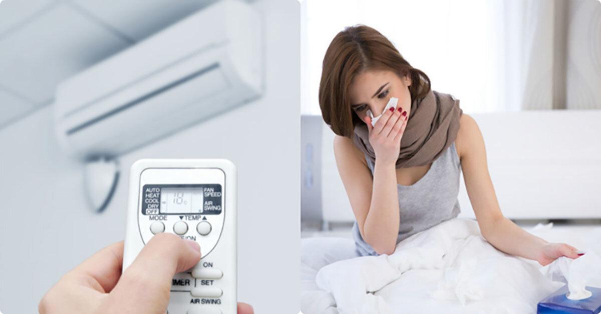 Tác hại của việc để nhiệt độ điều hoà quá thấp