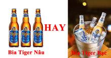 Tại sao dân nhậu kêu: bia Tiger bạc chỉ dành cho mấy thằng đàn bà, là đàn ông hãy uống bia Tiger nâu ?