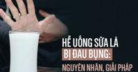 Tại sao nhiều người cứ hễ uống sữa là đau bụng : Đây chính là nguyên nhân gây nên và cách khắc phục