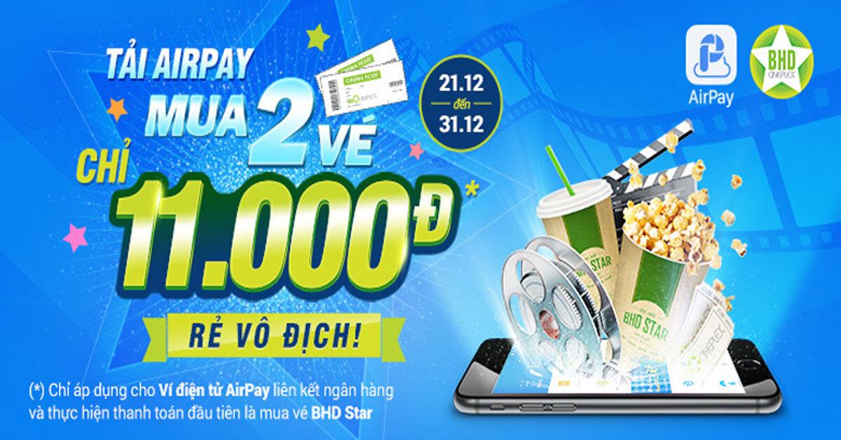 Tất tần tật các khuyến mãi khi sử dụng ví điện tử AirPay để thanh toán
