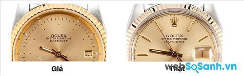 """Đồng hồ Rolex chính hãng phải có đầy đủ logo vương miện và chữ """"ROLEX"""""""
