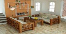 Tham khảo các mẫu bàn ghế gỗ phòng khách giá 5 triệu