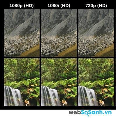 Rõ ràng là trên lý thuyết 1080p cho hình ảnh chi tiết hơn 720p gấp đôi. Tuy  nhiên, trên thực tế sự chênh lệch này khó phân biệt bằng mắt thường trên ...