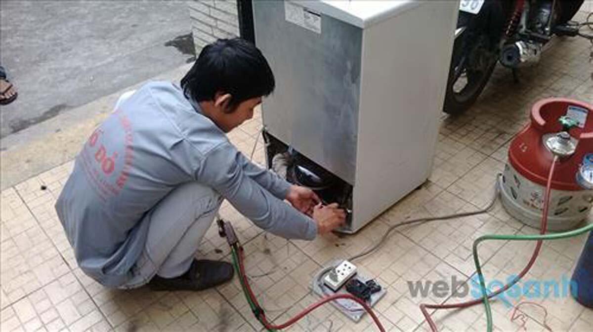 Thông số cần chú ý khi bơm gas cho tủ lạnh: áp suất gas lạnh