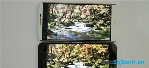 So sánh màn hình hiển thị của LG V10 và Nexus 6P