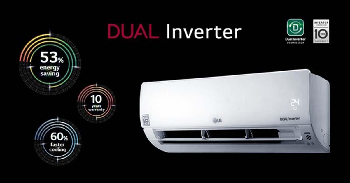 Tìm hiểu công nghệ tiết kiệm điện Dual Inverter trên điều hòa LG là gì?
