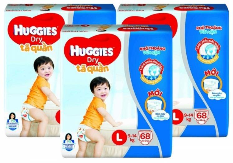 Giá tã quần Huggies size L 68 miếng bao nhiêu tiền?