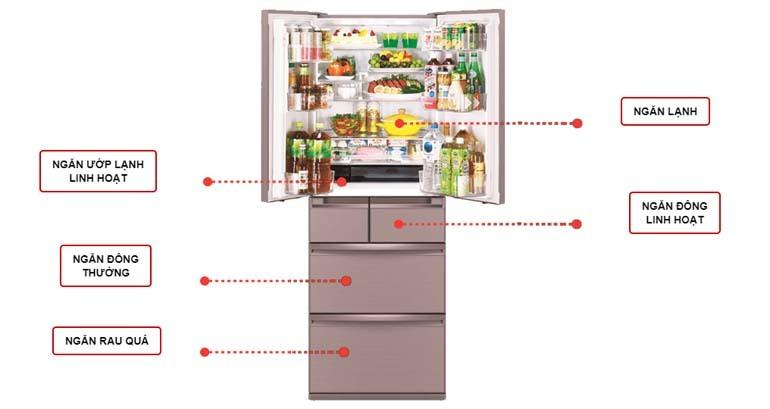 tủ lạnh cấp đông mềm Mitsubishi