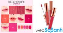 Tổng hợp bảng màu son Bbia Last Velvet Lip Tint từ Version 1 đến Version 6 mới nhất hiện nay