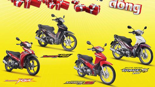 Tổng hợp các chương trình khuyến mãi khi mua xe máy 8/2015