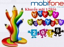 Tổng hợp các chương trình khuyến mãi nạp thẻ Mobifone tháng 1/2016