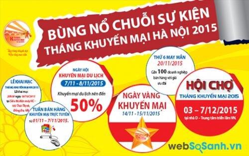 Tổng hợp chuỗi sự kiện tháng khuyến mại cuối năm 2015 tại Hà Nội