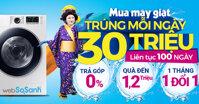 Tổng hợp giá máy giặt Điện máy xanh trong chương trình Mua máy giặt trúng mỗi ngày 30 triệu liên tục 100 ngày