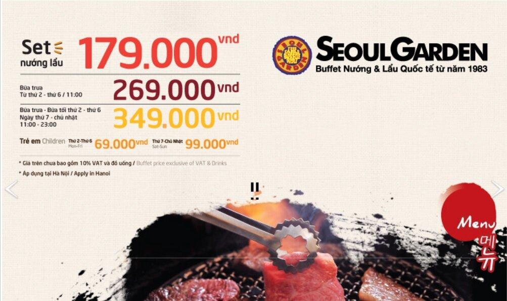 Tổng hợp giá một số nhà hàng buffet ở Hà Nội (Tháng 08/2015)