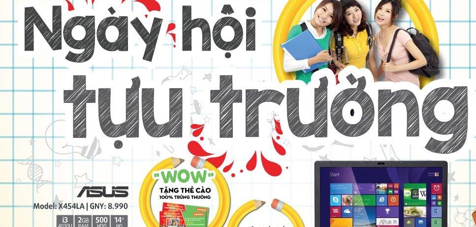 Tổng hợp khuyến mãi dành cho tân sinh viên tại các siêu thị điện máy tháng 8/2015