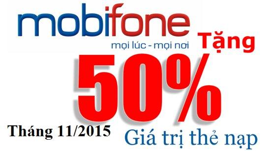 Tổng hợp khuyến mãi nạp thẻ Mibifone tháng 11/2015