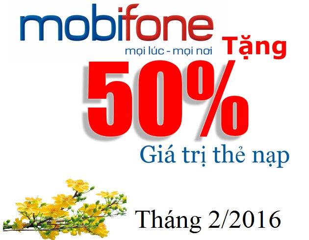 Tổng hợp khuyến mãi nạp thẻ Mobifone tháng 2/2016