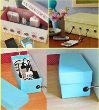 Tổng hợp những cách đơn giản làm hộp chứa đồ xinh xắn từ bìa các tông