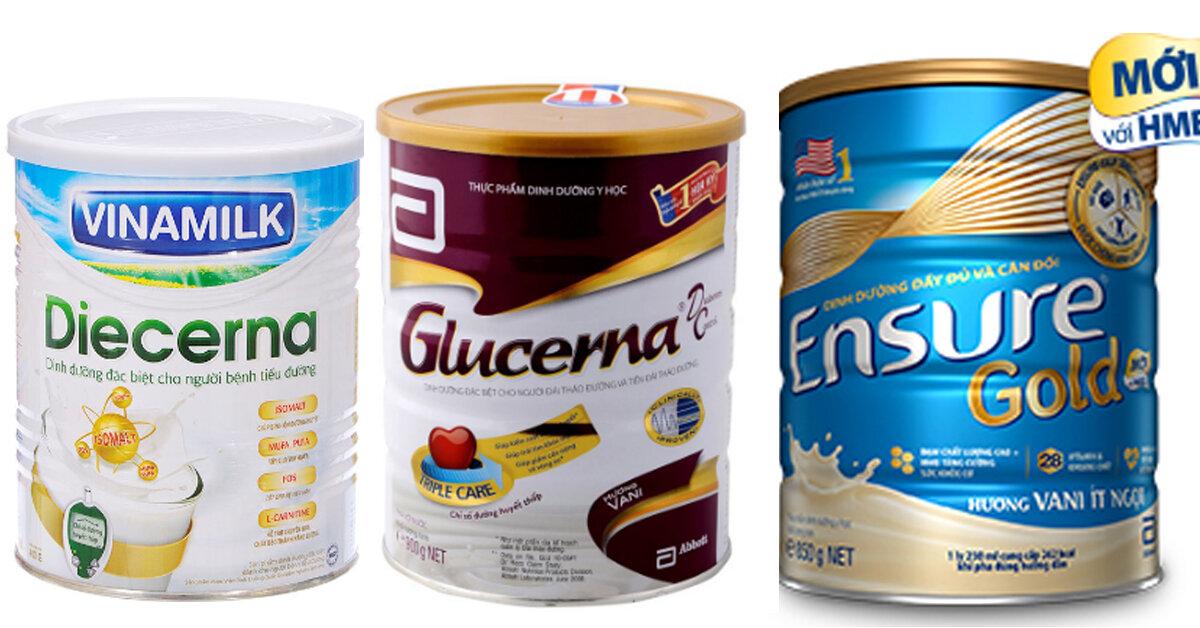 Tổng hợp tất cả các loại sữa dành riêng cho người tiểu đường