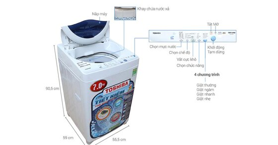 Top 10 máy giặt nhỏ nhất 2-7kg tốt bền di động chính hãng giá từ 2tr