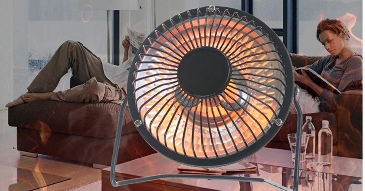 Top 3 chiếc quạt sưởi mini sưởi ấm tốt có giá chỉ dưới 200.000 đồng