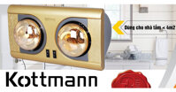 Top 3 đèn sưởi nhà tắm Kottmann 2 bóng được nhiều người yêu thích nhất