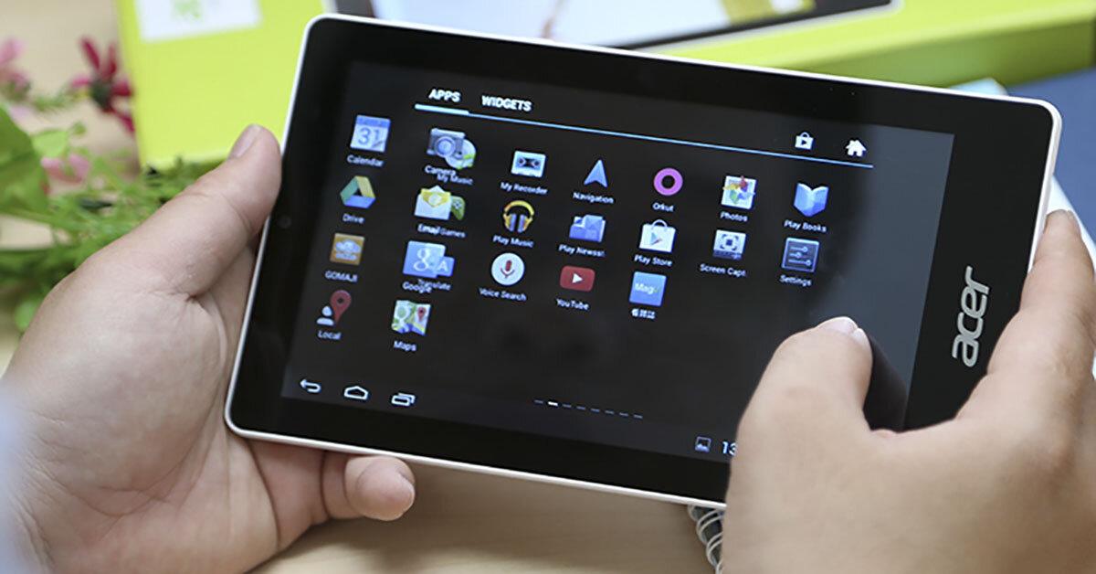 Top 3 máy tính bảng Acer giá rẻ bất ngờ với màn hình HD
