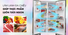 Top 3 tủ lạnh side by side dung tích trên 550 lít có bảng điều khiển bên ngoài tốt nhất hiện nay