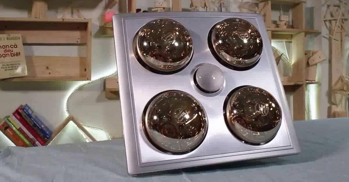 Top 5 loại đèn sưởi nhà tắm âm trần tốt nhất hiện nay