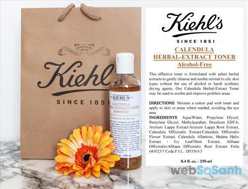 Toner Kiehl's dành cho da dầu mụn