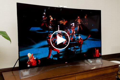 Trên tay TV OLED Cong LG EA9800: Cong, màn hình đẹp