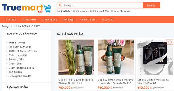 Truemart.vn - Siêu thị trực tuyến chuyên cung cấp các sản phẩm đồ dùng nhập khẩu các thương hiệu nổi tiếng từ nhiều nước trên thế giới