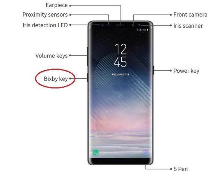 cách bật - khởi động Bixby trên Samsung Galaxy Note 8