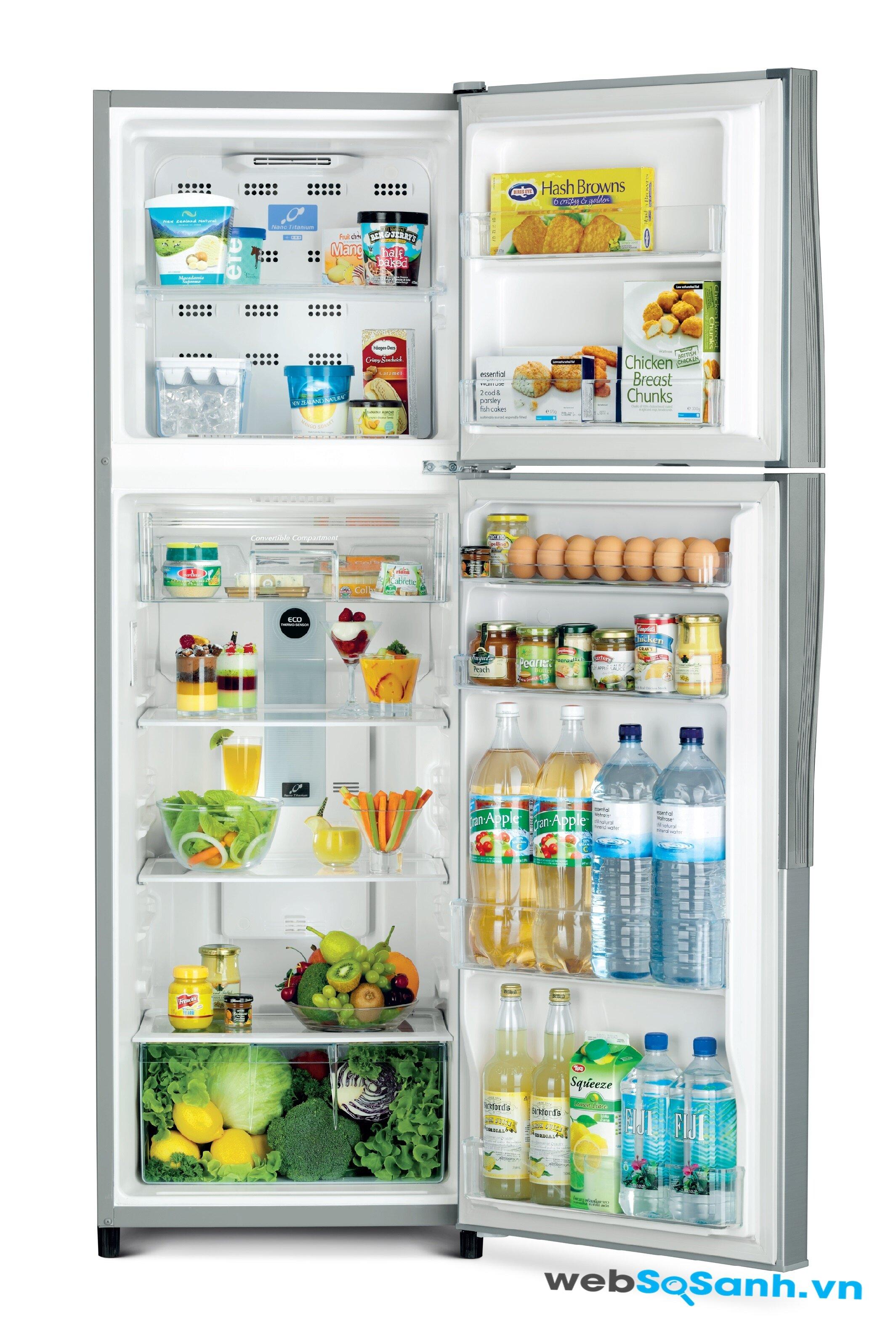 Tủ lạnh Hitachi R-T190EG1 tiết kiệm điện với cảm biến nhiệt độ Eco
