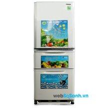 Tủ lạnh Mitsubishi MR-C41G-PWH-V tiện dụng với thiết kế 3 cửa