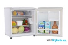 Tủ lạnh Sanyo Mini SR-5KR nhỏ gọn, hiện đại