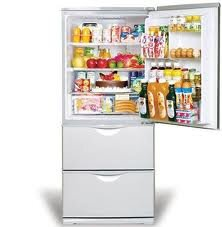 Tủ lạnh Sanyo SR-261M thiết kế 3 cửa độc đáo
